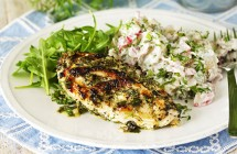 Minty Chicken with Dill & Radish Potato Salad