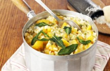 Squash Risotto with Sage & Blue Cheese