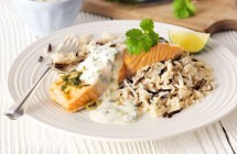 Salmon with Coriander Sauce