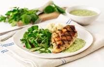 Chicken with Salsa Verde, Creamy Mash & Herb Salad
